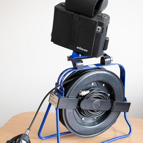 """Inspekcijska kamera """"WOHLER VIS2000"""" za pregled i snimanje unutrašnje stjenke dimnjaka sa okretnom glavom u boji"""